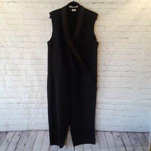 L'AGENCE tuxedo sleeveless jumpsuit size 10